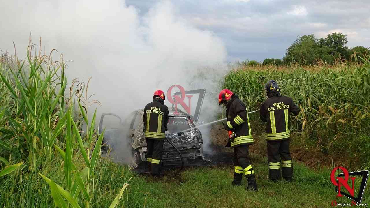 Feletto Incendio auto rubata 2