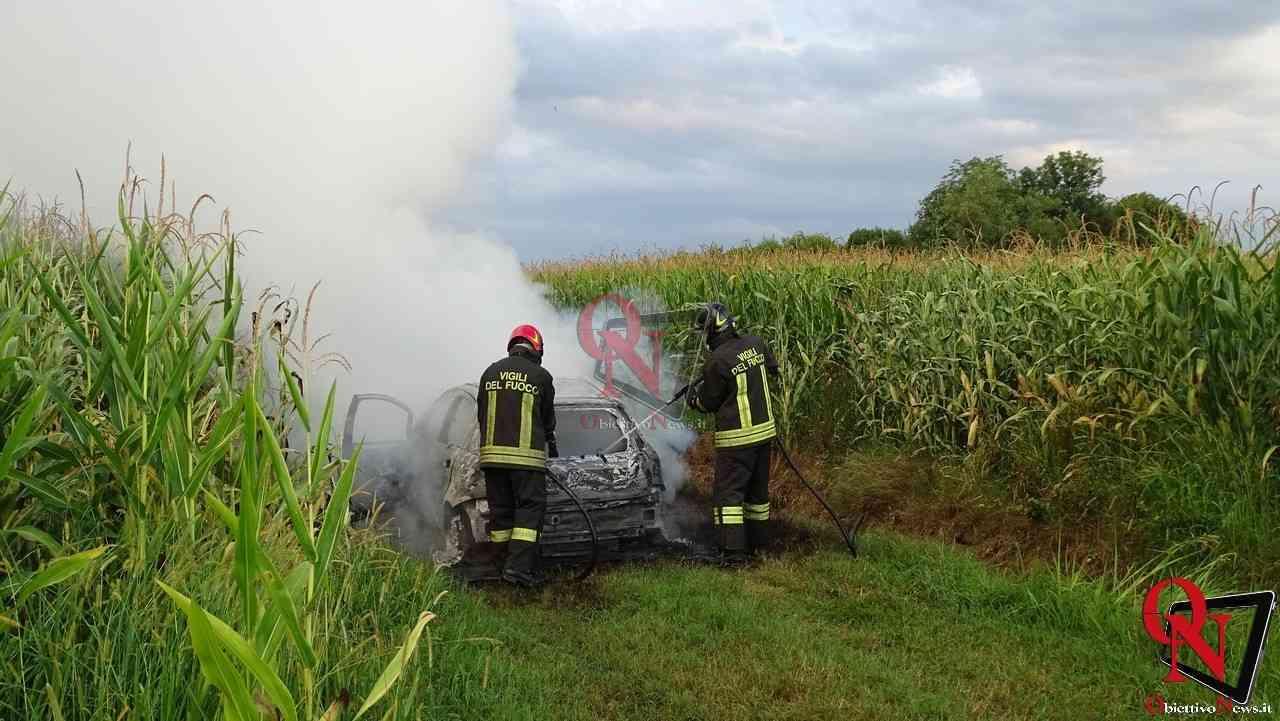Feletto Incendio auto rubata 3