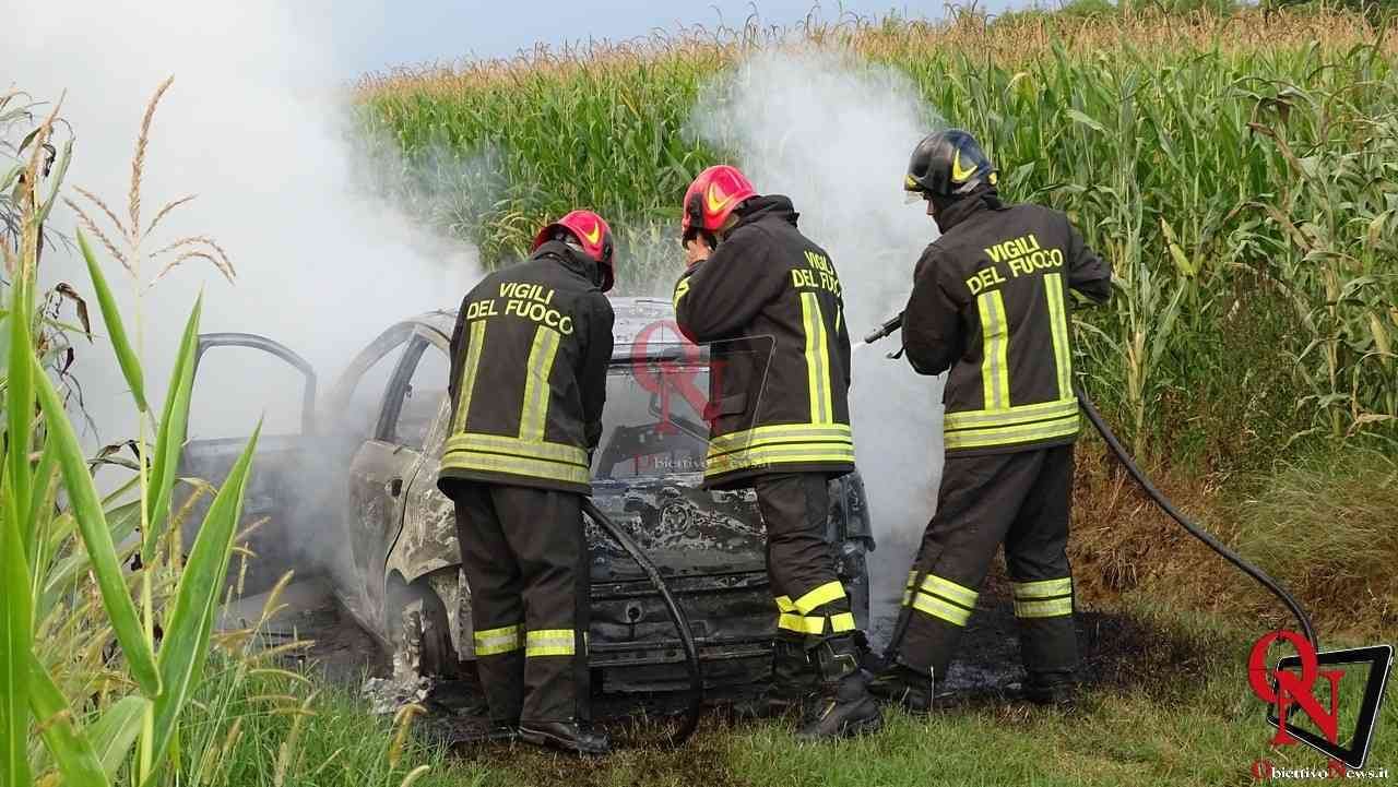 Feletto Incendio auto rubata 5