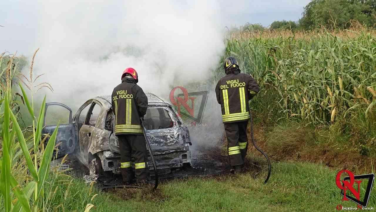 Feletto Incendio auto rubata 6