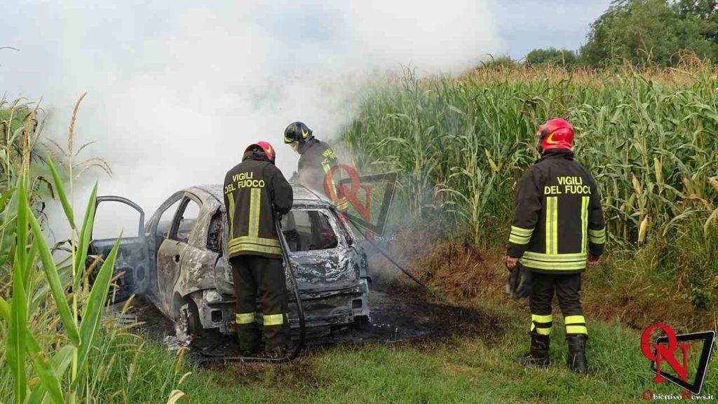 Feletto Incendio auto rubata 7