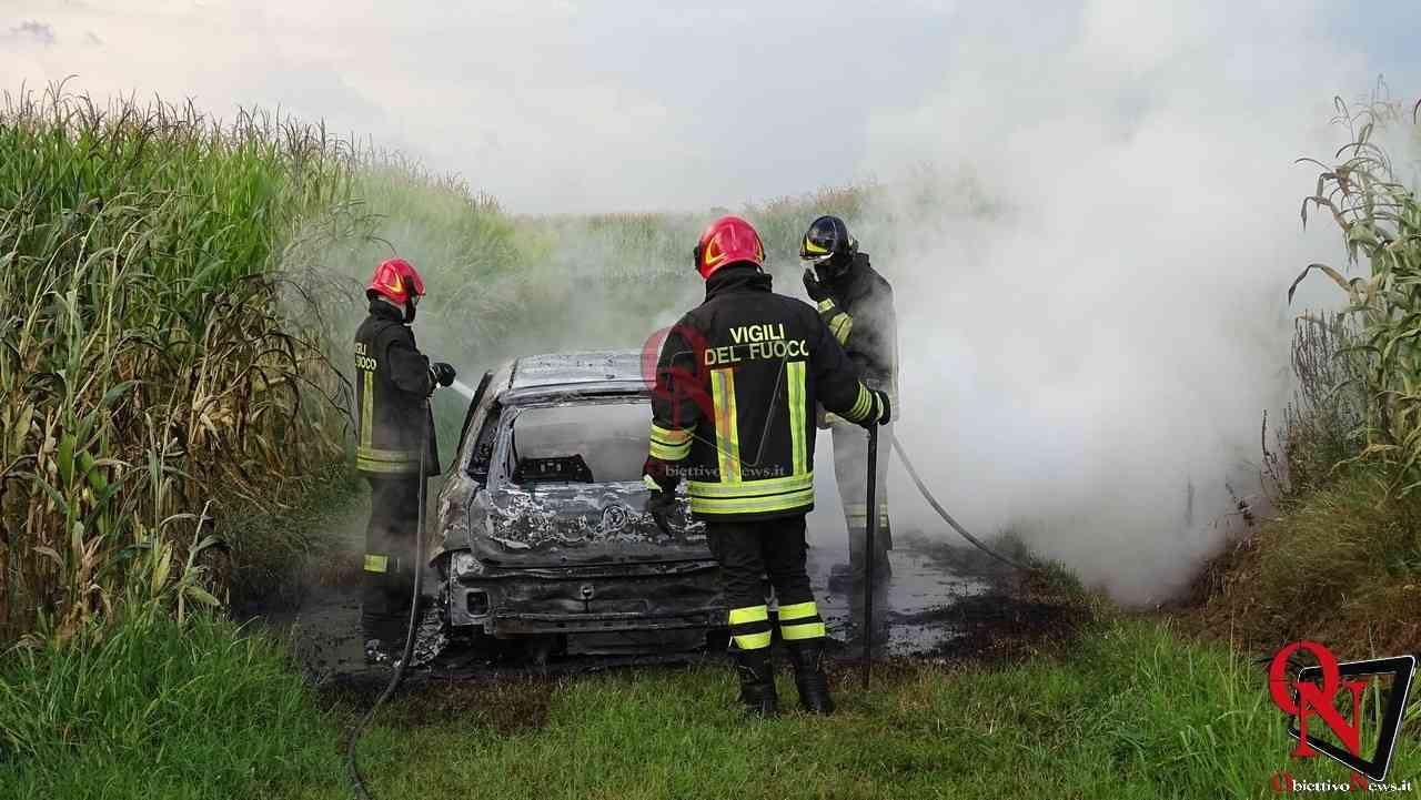 Feletto Incendio auto rubata 8