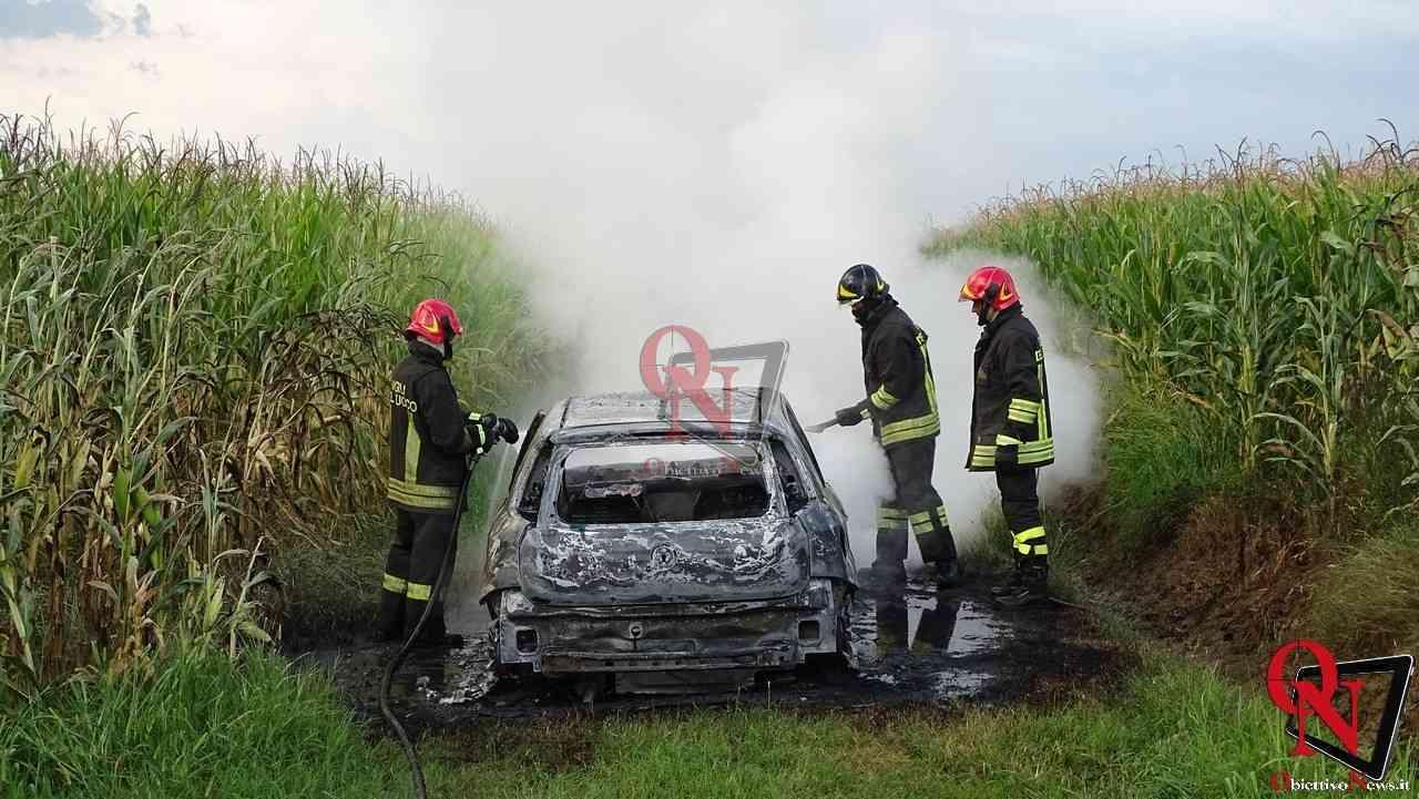 Feletto Incendio auto rubata 9