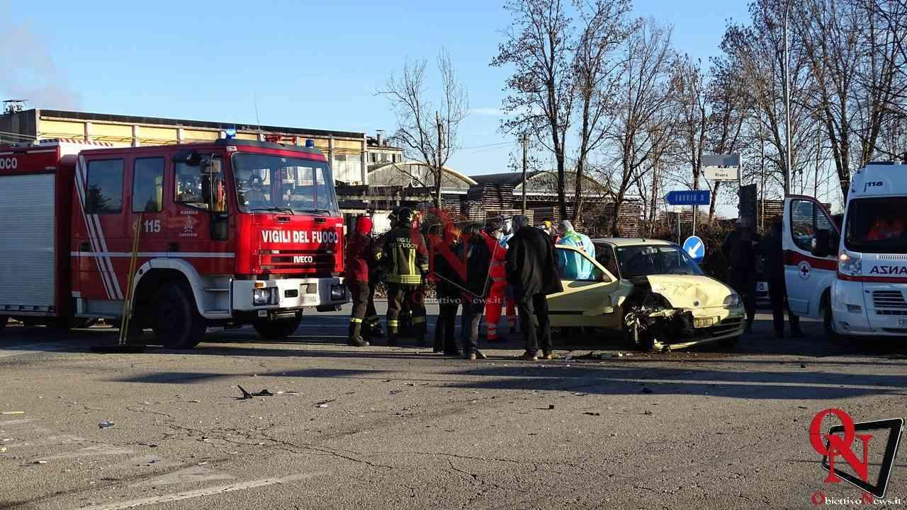 Front incidente incrocio Via Busano